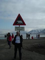 The land of the polar bears, Svalbard. DSCF1184 (Steve from London) Tags: svalbard arctic polarbear signpost longyearbyen