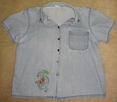 Dragon Shirt (katxn) Tags: china town chinatown dragon embroidery chinese stitching denim sublimestitching sublime