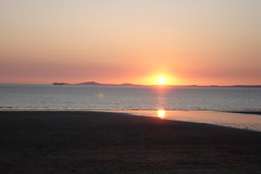 Sunset over Broad Haven beach