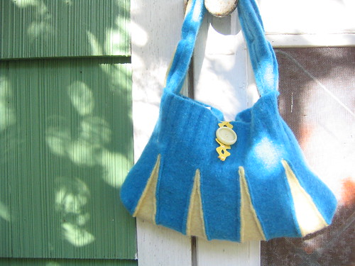 turquoise and yellow cheerleader handbag