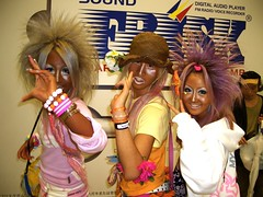 Oh My! (hazy jenius) Tags: trip travel people strange fashion japan tokyo weird costume colorful asia tour bright shibuya photojournalism documentary makeup social gal gyaru jfashion