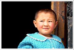Girl, Apprehensive (exhibitj) Tags: portrait girl face tibet tibetan lhasa 1870 theface 1on1people 1on1peoplephotooftheday