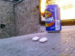 Abandoned junk (Stubbornella (aka Nicole)) Tags: paris france gum orangina 75013