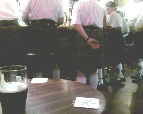 typical Edinburgh pub scene