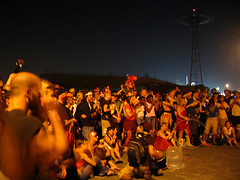 One Night Of Fire 2006 (Soupflower) Tags: nyc usa ny newyork brooklyn canon coneyisland fire photography unitedstates crowd 2006 gothamist canonsd550 chute nightoffire sd550 complacentnation 20060729 soupflowers onenightoffire brooklynrecords soupflower ©soupflowerphotography