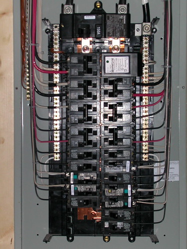 panel condo remodel electrical circuit breaker