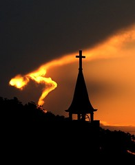 Sun sets on Church (Mr. Physics) Tags: sunset sky orange church nature catchycolors saveme4 saveme5 deleteme10 msoller