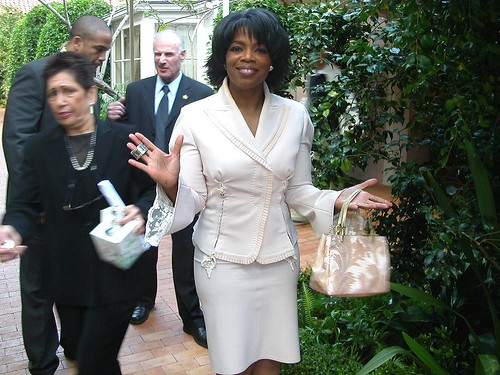 Oprah at her 50th birthday party by Alan Light.