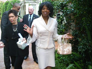 Oprah at her 50th birthday party