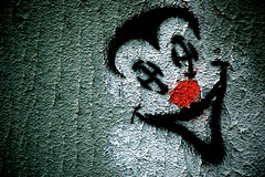 V For ... (m4r00n3d) Tags: streets art topf25 graffiti scotland nikon edinburgh jester clown nikond50 joker vforvendetta nikkor