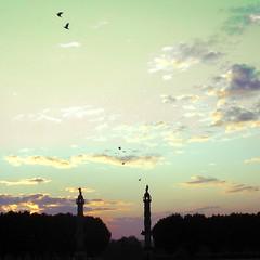 2 minarets pour la prire du matin (Cafine) Tags: minaret bordeaux matin cafine quinconces
