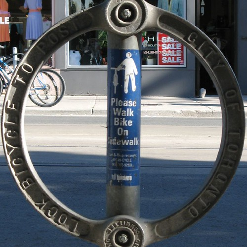 Toronto bike rack