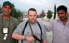 They made me get in the D@$M picture.   I HATE being photographed. (violinsoldier) Tags: afghanistan man male men me soldier army war peace muslim islam afghan pistol ugly males islamic beretta 9mil