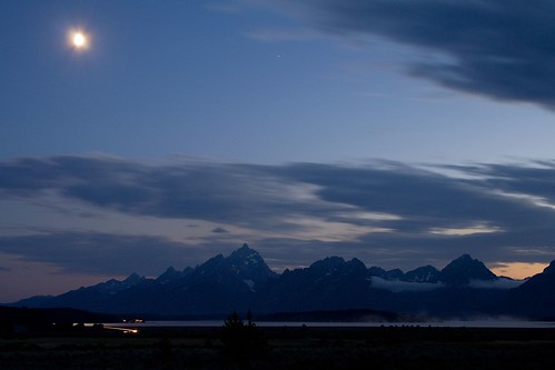 Tetons in the Moonlight