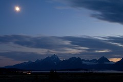 Tetons in the Moonlight (Robby Edwards) Tags: vacation moon lake mountains water night nationalpark moonlight wyoming grandteton grandtetonnationalpark jacksonlake willowflats signalmountainlodge abigfave