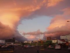 Solnedgang over Reykjavik (Sanne Aabjerg) Tags: sunset clouds island iceland reykjavik beautifulclouds solnedgang