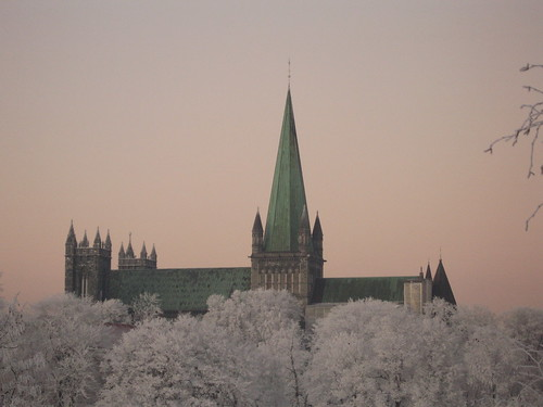 Cathedral in snow