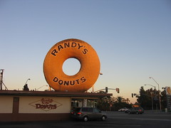 One large donut (Phil Eager) Tags: sign losangeles donuts randys bigdonut