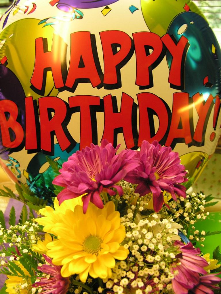 Happy Birthday Flowers And Balloons Pictures Savingourboysfo
