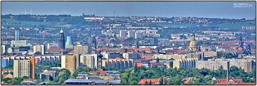 Dresdener Panorama vom Luisenhof gesehen