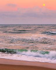 Cape Hatteras Beach (justinherrold1) Tags: nc northcarolina beach sunset orange pastel sand water ocean waves seashore sea shore blue