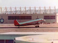N14636 Douglas C-47A Skytrain cn 13399 Transwest Air Express Phoenix Sky Harbor 18Oct78 (kerrydavidtaylor) Tags: phoenixskyharborinternationalairport phx kphx arizona dc3 c47 dakota