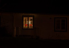 Light in the darkness (3) (frankmh) Tags: window light christmasdecoration lamp christmas hittarp helsingborg skåne sweden outdoor