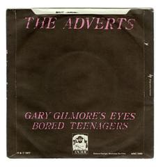 Gary Gilmore's Eyes - Back (Brett Jordan) Tags: vinyl 45 brett single record singlecover boredteenagers theadverts garygilmoreseyes brettjordan anchorrecords httpx1brettstuffblogspotcom anc1043