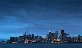 Toronto skyline blue hour