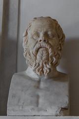 2015/07/18 14h05 Socrate (salon des Philosophes) (Valry Hugotte) Tags: sculpture rome roma muse italie lazio buste capitole antiquit socrate philosophes museducapitole