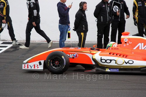 Alfonso Celis Jr on the Grid for the Formula Renault 3.5 Saturday Race at Silverstone