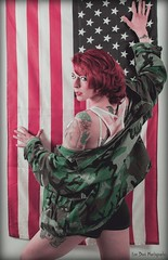 Army of One (Keltron - Thanks for 10M Views!) Tags: sexy americanflag redhead redhair armyjacket prettygirl select longlegs usflag hotgirl americangirl corry sexygirl hotmodel