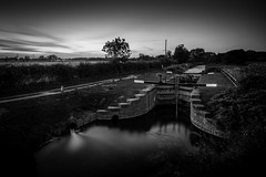 Coates Lock (Draws_With_Light) Tags: camera sunset summer water season landscape canal lock structures places scene filters eastridingofyorkshire pocklingtoncanal coateslock canoneos5dmarkiii tse24mmf35lii lee09ndhardgrad leelittlestopper