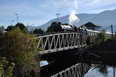jacobite (werewegian) Tags: bridge reflection train canal steam jacobite banavie sep15 werewegian