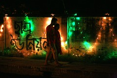 When Students Unite.... (N A Y E E M) Tags: street light couple availablelight young tonight bangladesh carwindow chittagong crbroad