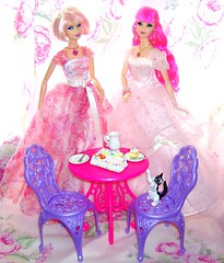 Rosalie & Peony Birthday Party #1 (Bridget_John316) Tags: birthday pink cake barbie disney bistro wishes rement steffie tarina tarantino 2014 tokidoki