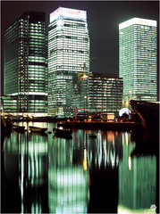 The South Docks 2002 (Bill-Green) Tags: city reflections docklands canarywharf banks billgreen thesouthdock