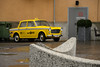 NYC Taxi (lumofisk) Tags: auto old nyc car yellow alt taxi north gelb historical arcticcircle hammerfest historisch 86mm transportmittel 0mmf0 nikondf