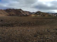 Wanderung nach Hrafntinnusker, Laugavegur - Trekking auf Island