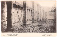 Ypres - Les Halles (pepandtim) Tags: old les architecture early war destruction postcard wwi great medieval nostalgia shelling artillery nostalgic postale rubble halles masterpiece carte ypres 85ylh77