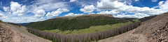 Wide view of Snow Mesa