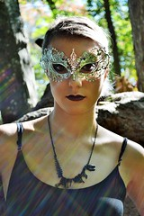 Masks (blinkgirl182x) Tags: ladies black bunny nature fashion outdoors high mac women mask natural lace goth masks morbid playboy masquerade pinup