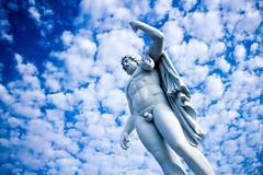 IMG_3580 (Michael Lee~) Tags: old blue sky people sculpture man colour art history eos god taiwan carving cannon tainan 台灣 台南 建築 tw 天空 藍色 雕塑 佳能 小品 男人 藍天 藝術 奇美 彩色 石雕 戶外 新手 700d 泡泡雲 eos700d