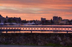 The Inner Harbour (Brandon Godfrey) Tags: morning pink canada sunrise bc britishcolumbia victoria theempresshotel