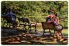 Couples (dpjrugby) Tags: park people japan bench tokyo yoyogipark yoyogikoen 代々木公園