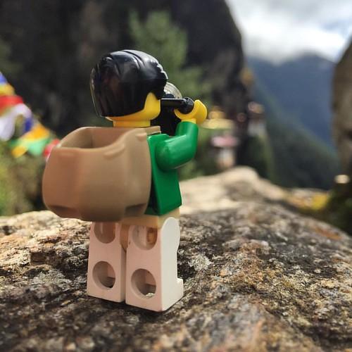 #Legopau loved taking photographs of #tigersnest too. #lego #love #Bhutan #legostagram