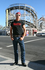 The Warriors Coney Island (Cowboy Tommy) Tags: nyc newyorkcity hot sexy sex brooklyn coneyisland manly jeans sideburns rollercoaster stache mustache levis thewarriors cyclone rugged bulge cowboyboots muttonchops