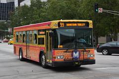 St Louis Metrobus 6743. (EYBusman) Tags: city bus saint st louis town coach downtown floor metro trolley centre low missouri advert gillig municipal overall 6473 eybusman