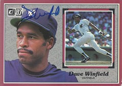 1983 Donruss Action All-Stars - Dave Winfield #36 (Outfield) (Hall of Fame 2001) - Autographed Baseball Card (New York Yankees) (WhiteRockPier) Tags: auto sign vintage cards baseball action graf graph autograph 1983 allstar newyorkyankees signed mlb torontobluejays donruss davewinfield