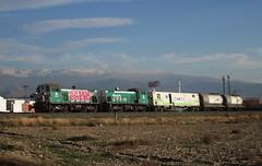 Herbicida MDE (Challenger179) Tags: sunset espaa atardecer railway andalucia granada freighttrains 310 mde ferrocarril adif maracena spanishtrains herbicida dobletraccion locomotoradiesel